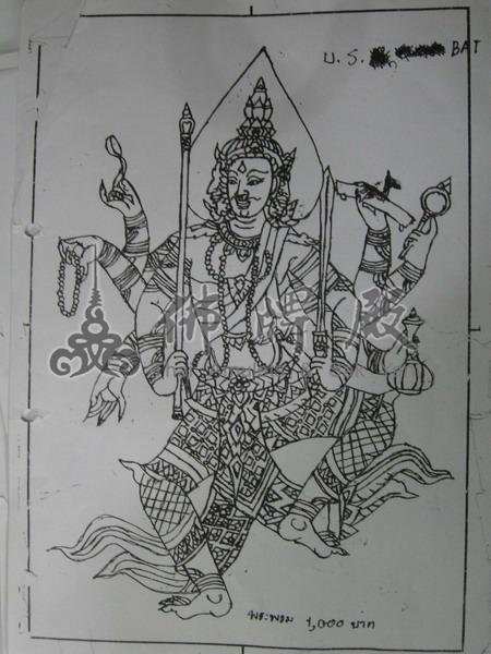 泰式佛教手绘图片